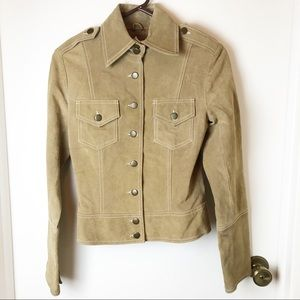 BB Dakota Suede Jacket S Light Brown Western